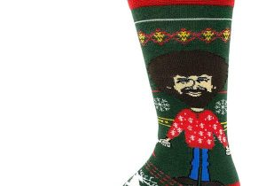 Bob Ross Christmas Socks