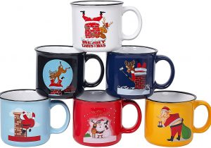 Funny Novelty Christmas Mugs Set